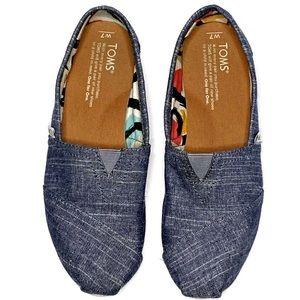 Toms Women's Denim Slip On Shoes